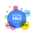 christmas sale circle banner poster special vector image vector image