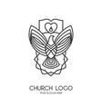 church logo christian symbols vector image vector image