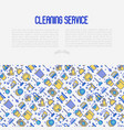 cleaning service concept with thin line icons vector image