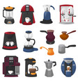 coffee machine coffeemaker and coffee vector image vector image