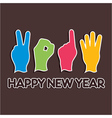 Creative new year2014 concept with finger vector image vector image