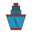 cruise ship transport isolated icon vector image vector image