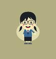 cute girl cartoon character vector image vector image