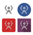 dotted icon radio repeater in four variants vector image