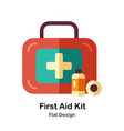 first aid kit flat icon vector image
