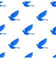 Fly Dove Seamless Pattern vector image