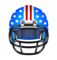 Football helmet with stripes and stars vector image vector image