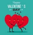 Funny valentines card vector image