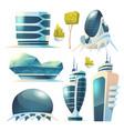 future city futuristic buildings with glass facade vector image vector image