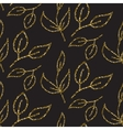 Gold glitter foliage seamless pattern vector image vector image