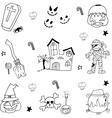 Halloween Flat element in doodle vector image vector image