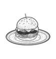 hamburger sketch vector image