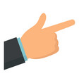hand finger sign icon flat style vector image