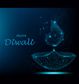 happy diwali deepavali light and fire festival vector image vector image