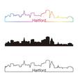 Hartford skyline linear style with rainbow vector image vector image