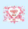 heart frame sale card vector image