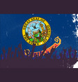 idaho state flag with audience vector image vector image