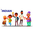 indian generation male people person vector image vector image