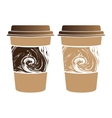 Isolated coffee plastic cups vector image