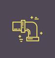 isolated plumbing icon vector image vector image
