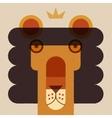 king lion applique style head vector image