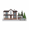 modern cottage with gray car vector image