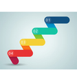 Number Steps 3d Infographic 1 to 4 B vector image