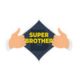 opening shirt brother vector image