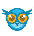 Owl Head Mascot Cartoon vector image vector image