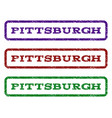 pittsburgh watermark stamp vector image vector image
