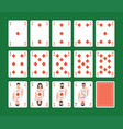 playing cards diamonds set vector image vector image