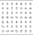 Present icon set in thin line style vector image