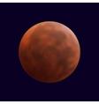 realistic shining full mars in dark blue sky vector image