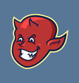 Red Devil Boy Head In Retro Color vector image vector image