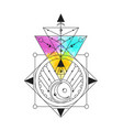 sacred geometry good for logo vector image vector image