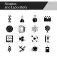 science and laboratory icons design vector image vector image