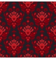 Seamless damask flower pattern vector image