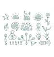 Set graphic elements idea brain creative vector image vector image