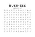 set line icons business vector image vector image