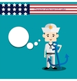 set men character USA sailor vector image vector image