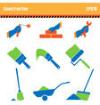 set of icons construction a vector vector image