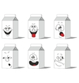 Set smiling paper packs 015 vector image