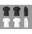 set template of male T-shirts vector image vector image