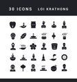 simple icons loi krathong vector image vector image