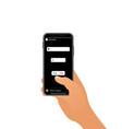 slider emoji in social media interface a poll vector image vector image