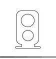 speaker icon design vector image vector image