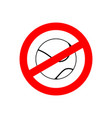 stop tennis prohibited team game red prohibition vector image vector image