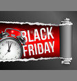torn paper with opening showing black friday vector image