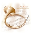Traditional hunting horn vector image vector image