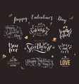 valentine day hand drawn calligraphy quotes vector image vector image